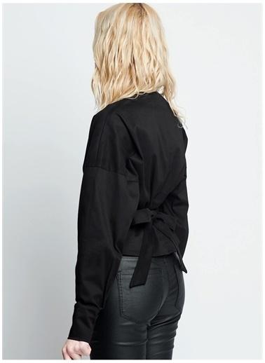 Iamnotbasic IAMNOTBASIC Kadın Siyah Edora Gömlek Siyah